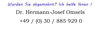 Abgemahnt